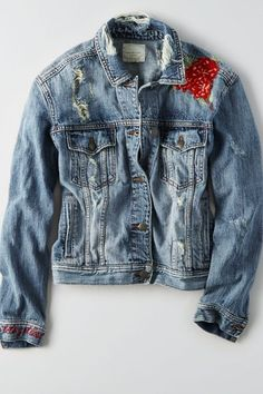 AE Embroidered Denim Jacket