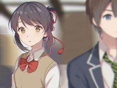 Anime Your Name. Taki Tachibana Mitsuha Miyamizu Kimi No Na Wa. Kimi No Na Wa, Otaku Anime, Manga Anime, Anime Art, Ghibli, Me Me Me Anime, Anime Love, Your Name Anime, L Death Note