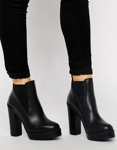 Image 1 ofKG By Kurt Geiger Skye Cleated Sole Heeled Ankle Boots
