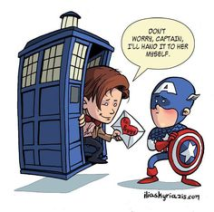 Captain America/Doctor Who crossover <3
