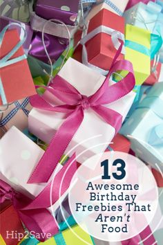 It's great to get free things on your birthday! We have rounded up the 13 best non-food birthday freebies you never knew existed. Freebies On Your Birthday, Free Birthday Food, Free Birthday Gifts, Birthday Rewards, Half Birthday, Birthday Month, 10th Birthday, Birthday Fun, Birthday Stuff