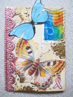 Postage Stamp and Charm ATC