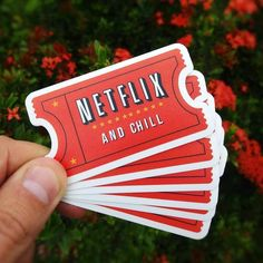 Great vinyl sticker from Brazilian team of NerdStickers #netflix #quote #netflixandchill #sticker #lettering #brand