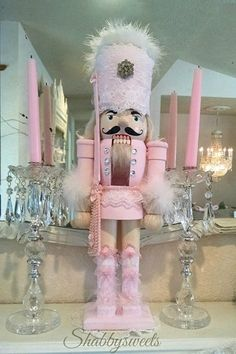 Gorgeous shabby Pink Nutcracker made by Shabbysweets <3 <3 xo