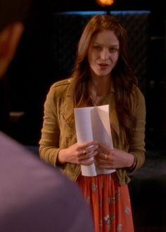 """Marley's Free People Perfect Day Dress on Glee Season Episode """"Naked"""" - Spotted on TV Glee Season 4, Melisa Benoist, Marley Rose, Katie Mcgrath, Autumn Winter Fashion, Winter Style, Supergirl, Day Dresses, Tv Shows"""