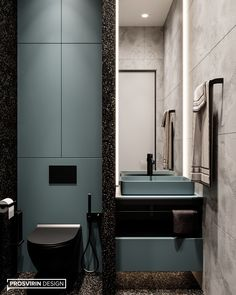 Agatha O I Hello! Today we look at another bathroom from the project. Bathroom Design Luxury, Modern Bathroom Design, Upstairs Bathrooms, Small Bathroom, Bathroom Design Inspiration, Toilet Design, Bathroom Pictures, Home Room Design, Amazing Bathrooms