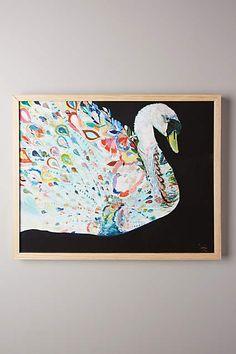 Mooreland Wall Art, Swan - anthropologie.com