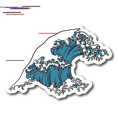 "The post ""Japense Tsunami Wave Symbol Vinyl Sticker"" appeared first on Pink Unicorn Stickers Stickers Cool, Bubble Stickers, Phone Stickers, Clear Stickers, Printable Stickers, Preppy Stickers, Wallpaper Stickers, Macbook Stickers, Waves Symbol"