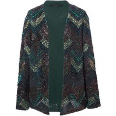 SEQUINNED AND EMBROIDERED CARDIGAN - Blazers - Woman - ZARA Finland ($395) via Polyvore
