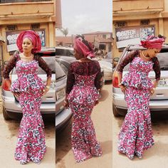 Classy picture collection of Beautiful Ankara Skirt And Blouse Styles These are the most beautiful ankara skirt and blouse trending at the moment. If you must rock anything ankara skirt and blouse styles and design. African Dresses For Women, African Wear, African Attire, African Fashion Dresses, African Women, Ankara Fashion, Ghanaian Fashion, African Clothes, African Style