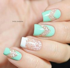 colours, nails, and white image