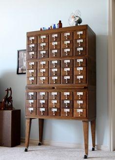 library card catalog storage