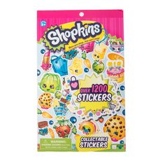 """<P>Let's go shopping! From fruits and vegetables to tasty treats and even kitchen appliances, Shopkins are fun to collect. This sticker book is jam-packed with over 1200 stickers featuring your favorite characters and rewards like """"Super!"""" and """"Well done!""""</P><UL><LI>For ages 5+<LI>Includes over 1200 stickers<LI>Materials: Paper</LI></UL>"""