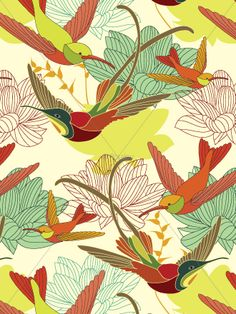 Floralcy.com - has some beautiful vector patterns for sale...
