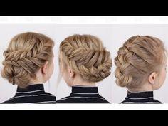Braided Updos for Short Hair - YouTube