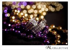Mardi Gras wedding ring picture