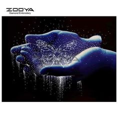 Zooya diamant borduurwerk 5d diy diamant schilderij de hand vlinder water diamant schilderen kruissteek strass mozaïek bj1602