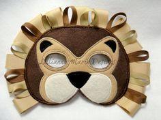 Children's Lion Felt Mask by lilliannamarie on Etsy, $14.00