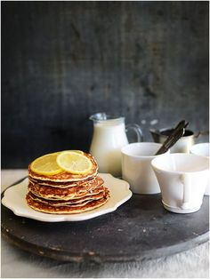 Lemon Chia Seeds Protein Pancakes | 290 calories per serving by Fit, fun & delish!