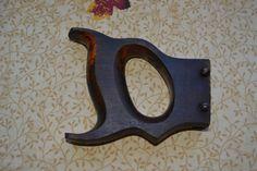 Antique Hack Saw Solid Wood Handle Replacement Part w/ Original Screws