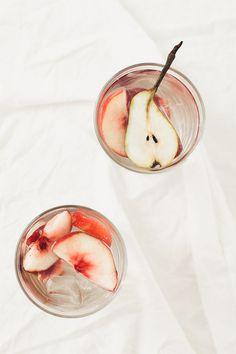 ... pear cinnamon peach water ... (photo Emily Dahl at Milk&Arsenic) ...