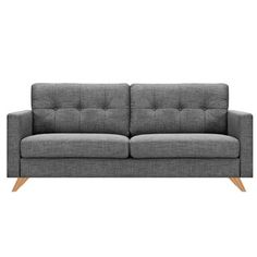 A modern take on a classic Danish design, the Ames Sofa is ideal for any contemporary home. Plush seats and back support provide quality comfort sure to last years. Crafted with easy-to-clean polyeste Cool Furniture, Furniture Design, Retro Sofa, Sofa Seats, Gray Sofa, Cool Rooms, Danish Design, Modern Classic, Grey