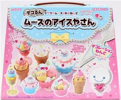 DIY paper mousse clay making kit glitter ice cream 1