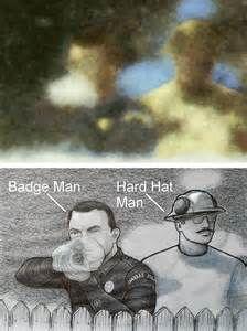 Badge Man at Grassy Knoll