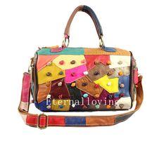 Fashion female bag Sunny girl leather stitching female fashion handbags Women leather handbags Everyday bag shopping bag fashion handbags
