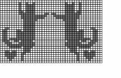 24 (599x387, 163Kb) Filet Crochet Charts, Crochet Cross, Knitting Charts, Knitting Stitches, Knitting Patterns Free, Cat Cross Stitches, Cross Stitch Charts, Cross Stitching, Hexagon Quilt Pattern