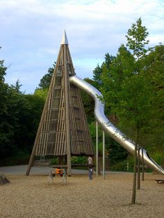 German playground. Want is in my backyard. My sister lex lives in Germany right now and she described the playgrounds like this. Not crazy and outrageous like American playgrounds. I LOVE it!!!