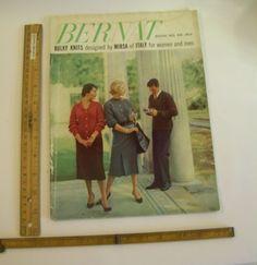 1954 BERNAT 65 Bulky Knitting Patterns Italy Style Sweaters RETRO fashion Knits