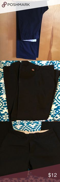 b8a5969f Shop Men's Dickies Black size 36 Chinos & Khakis at a discounted price at  Poshmark. Description: Black dickies for man size polyester, cotton.