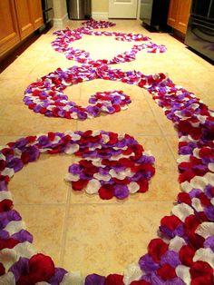 petale rose silk petal aisle runners
