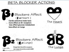 Nursing Beta blockers  This is soo helpful when remembering Beta Blockers (cardiovascular medication).B1- affects the heart (heart is 1 organ)B2- affects the lungs