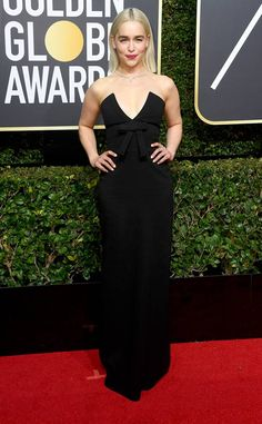 Emilia Clarke from 2018 Golden Globes Red Carpet Fashion