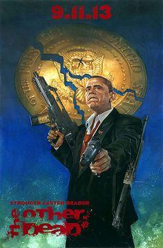 Barack Obama empunha armas para matar zumbis em capa de HQ > Quadrinhos | Omelete