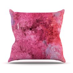 """CarolLynn Tice """"Cotton Candy"""" Red Pink Throw Pillow"""
