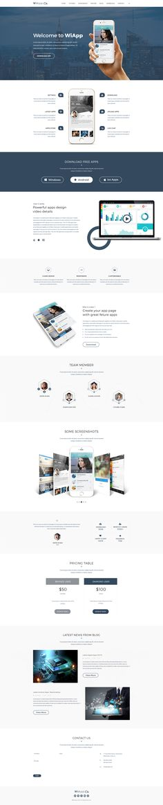 Buy WiApp-Apps Landing HTML Template by FabioDesign_Lab on ThemeForest. WiApp-Apps Landing Page HTML Template is a responsive, clean and modern designed template for landing pages. App Design, Design Sites, Website Design Services, Website Designs, Website Ideas, Website Themes, Icon Design, Modern Web Design, Creative Web Design