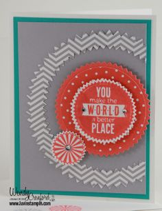 Starburst Sayings Stamp Set and Framelits set for my March Stamp Kit of the month from the 2014 Occasions Catalog http://www.luvinstampin.com/2014/03/march-stamp-kit-of-month-photos.html
