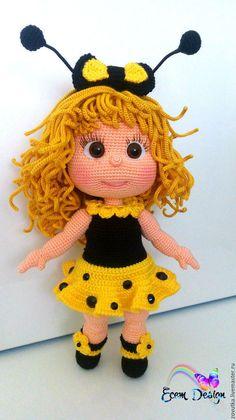 Juju Doll-Amigurumi Crochet Pattern PDF file by Elena by KnittLife