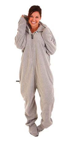 Uni-Lazy Deluxe Onesie - Footed Asleep on the Job Gray
