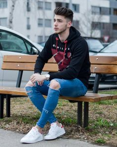 German boy full of elegance with Stylish Jeans.