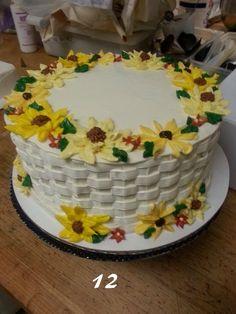 Buttercream basket weave cake