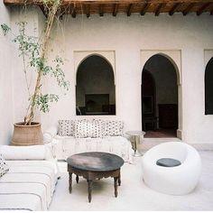 Love this Moroccan styled courtyard via @houseofharper_ #moroccan #courtyard #patio #garden #interiordesign #home #decor #furniture #architecture #travel #spiritual #tea #time #style #inspiration #rockthecasbah #thestylephiles