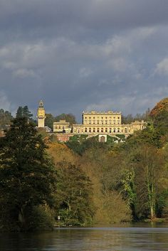 Cliveden House over the Thames River. Berkshire, England.