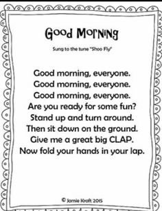 Every class should start out with a HELLO song to get the day started. Here is s FREEBIE of 10 songs that an teacher can use to say Hello and Good Morning! Songs Included in this booklet: Kindergarten Songs, Preschool Music, Preschool Classroom, Preschool Learning, Preschool Good Morning Songs, Hello Songs Preschool, Hello Song For Kids, All About Me Preschool Theme, Montessori Elementary