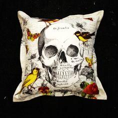 skull scatter cushion