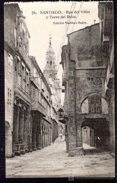 Rúa do Vilar. Fotos antiguas de Santiago.