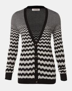 Zigzag stitch cardigan - smart set